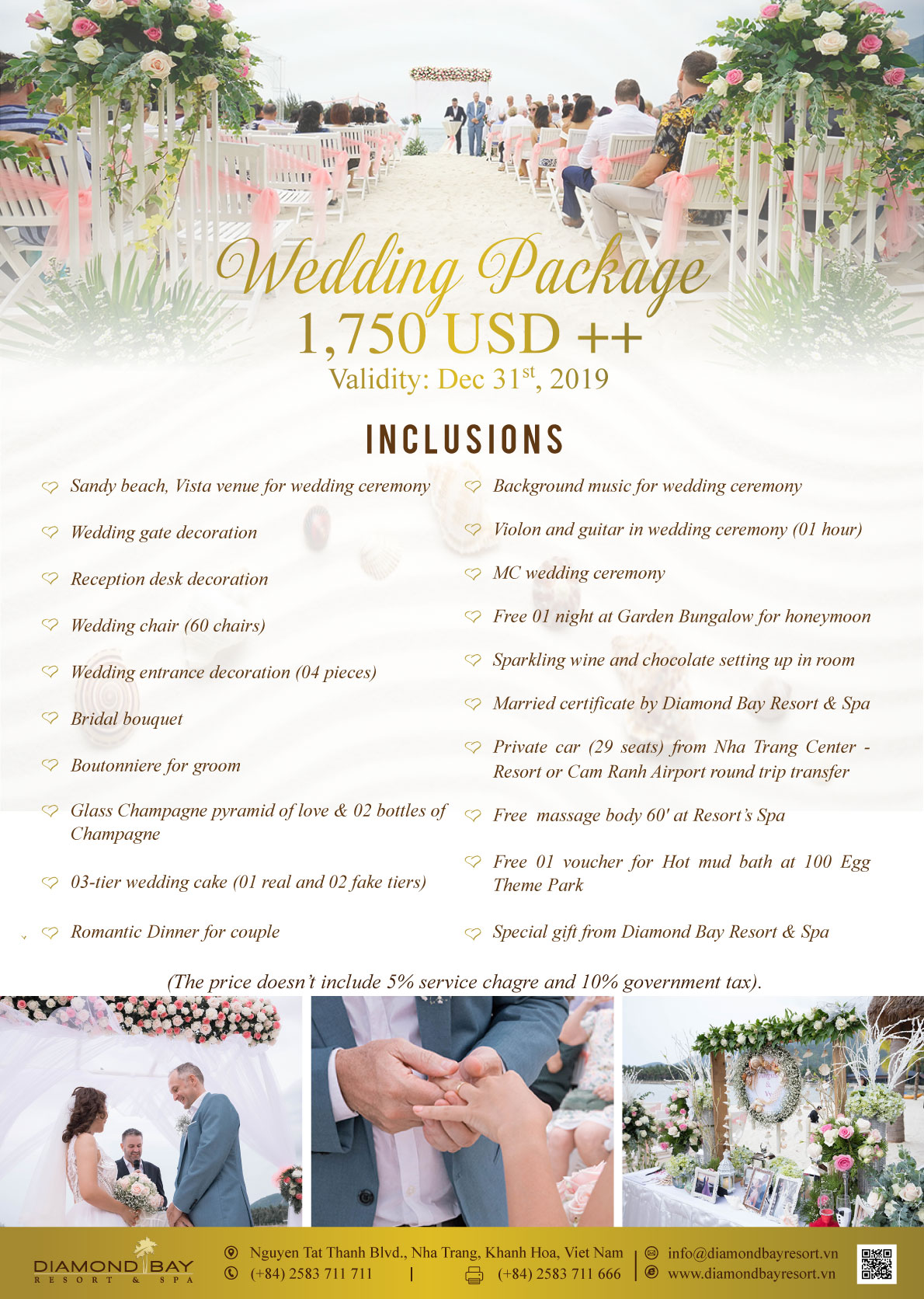 WEDDING  PACKAGE 40T