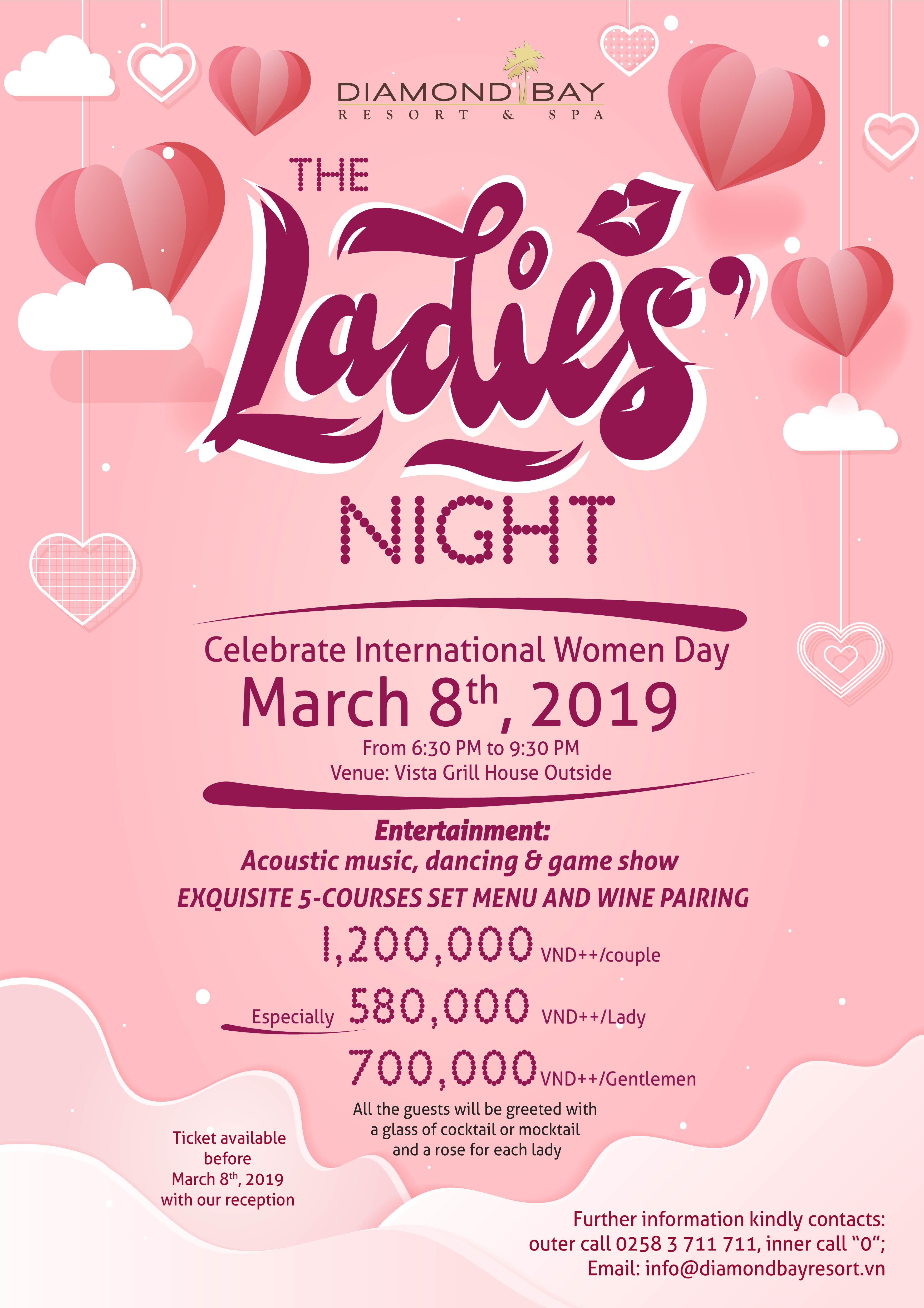 The Ladies Night set menu at Diamond Bay Resort & Spa