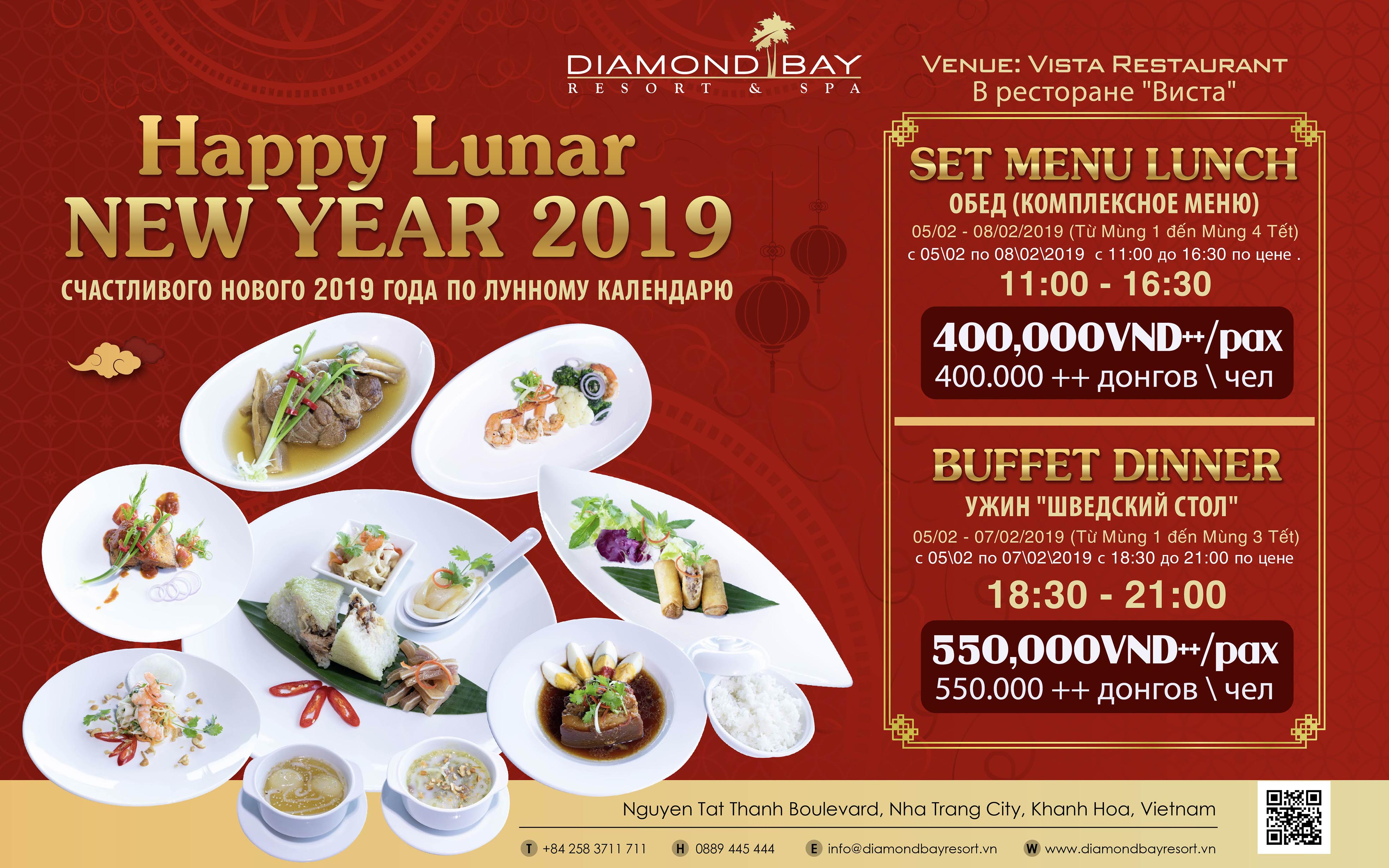 Happy Vietnammese New Year at Diamond Bay Resort & Spa