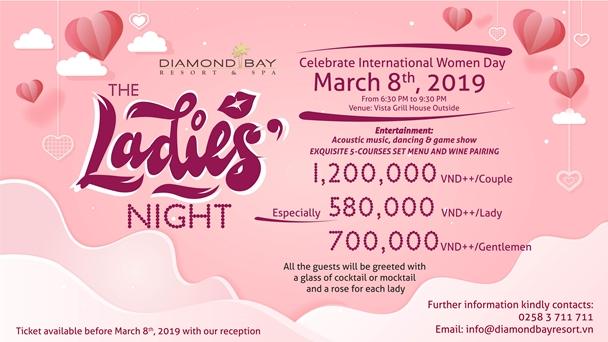 The Ladies Night set menu at Diamond Bay Resort & Spa