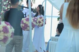 Wedding white & purple